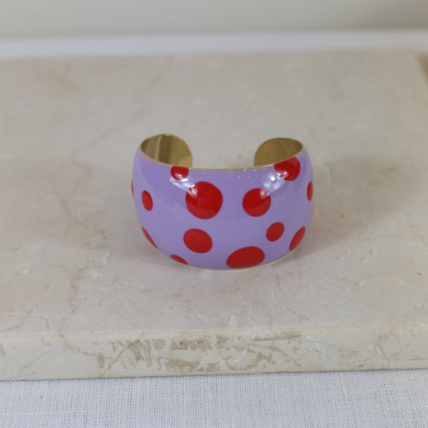 Bracelete Dots Color Nath - Lilás e Vermelho