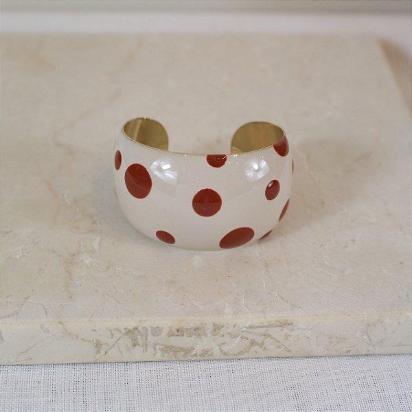 Bracelete Dots Color Nath - Off e Marrom
