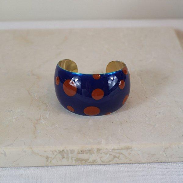 Bracelete Dots Color Nath - Marinho e Marrom