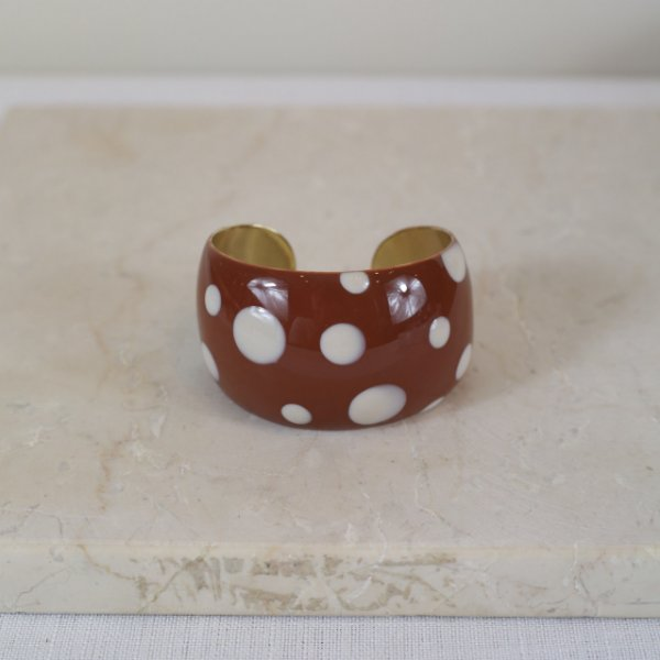 Bracelete Dots Color Nath - Marrom e Off