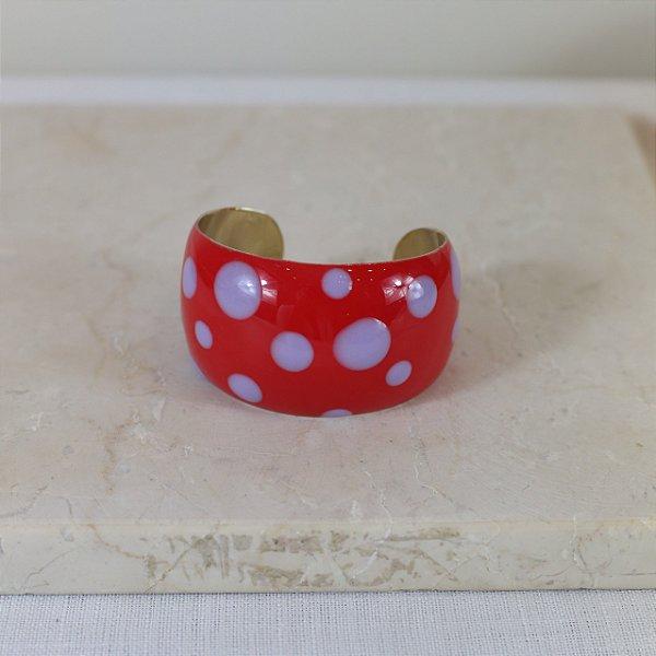 Bracelete Dots Color Nath - Vermelho e Lilás