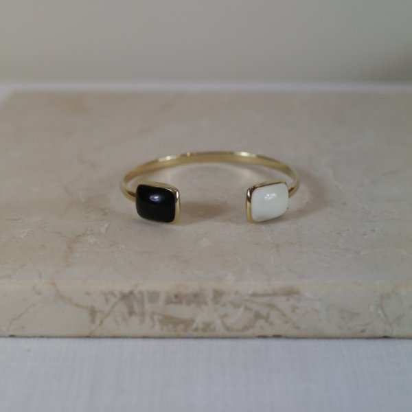 Bracelete Merci Color Nath - Preto e Branco