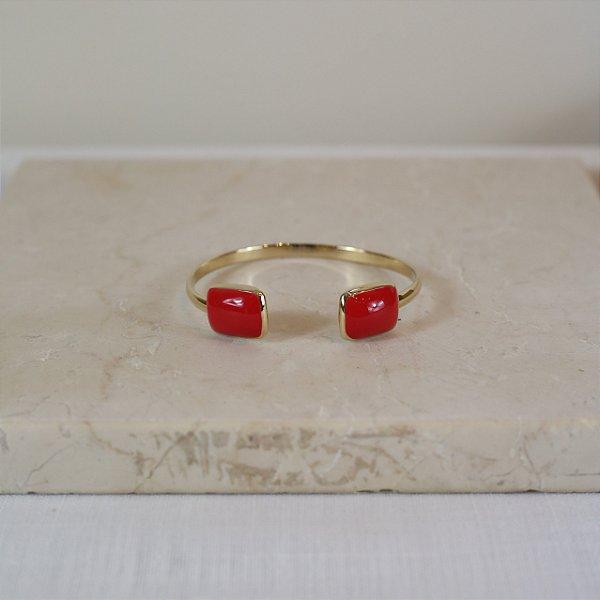 Bracelete Merci Color Nath - Vermelho