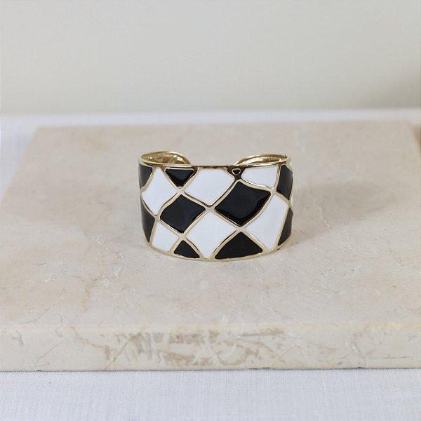 Bracelete New York Color Nath - Preto e Branco