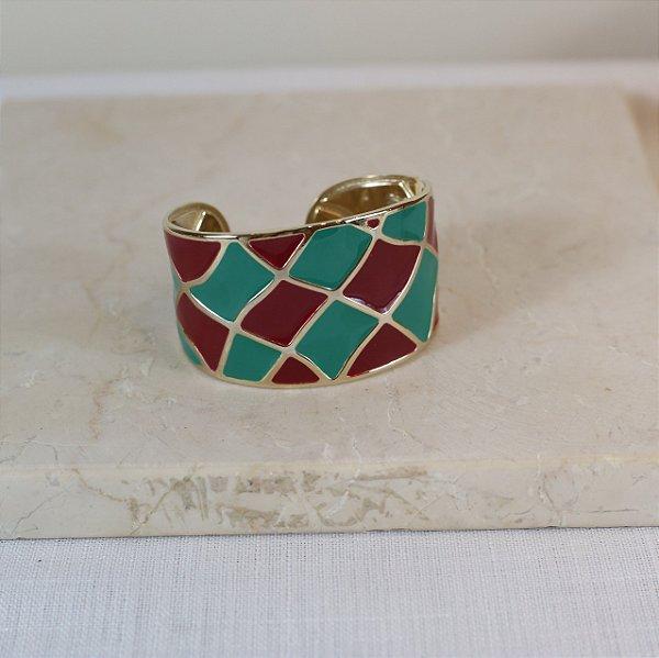 Bracelete New York Color Nath - Verde e Vinho