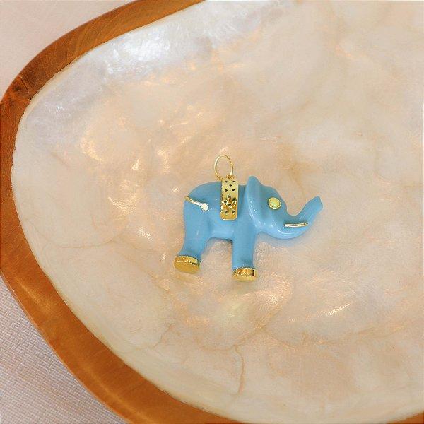 Pingente Elefante - Turquesa