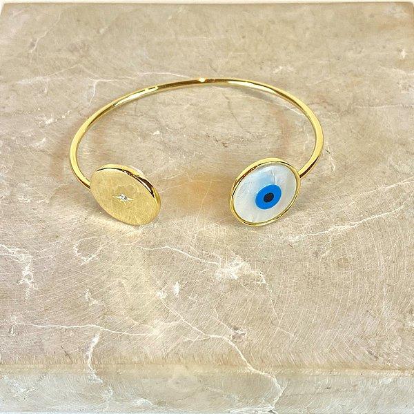 Bracelete Olho Madre Pérola