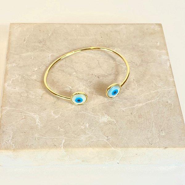 Bracelete Olho Madre Pérola Mini
