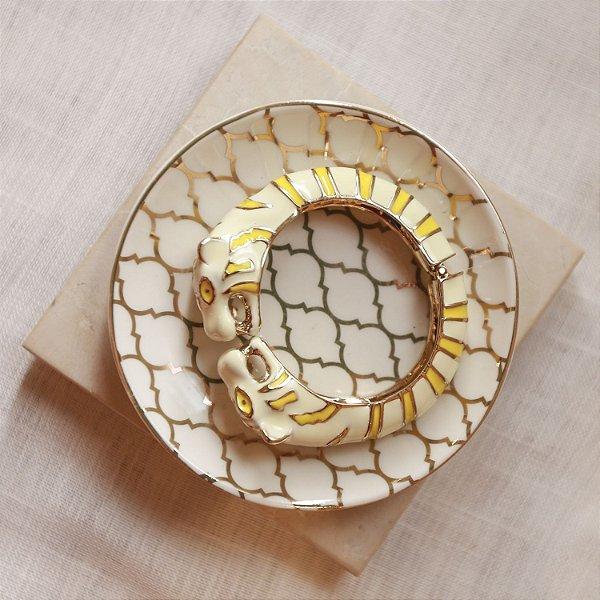 Bracelete Tigre Max Maria - Amarelo e Off