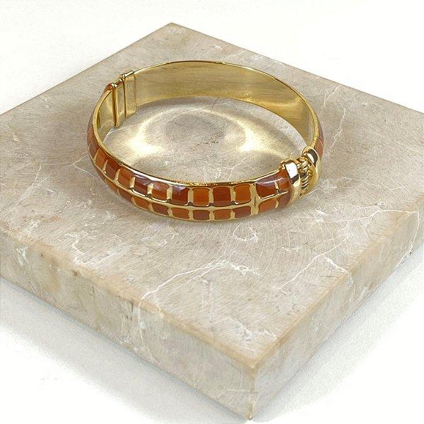 Bracelete Square Color Nath - Caramelo e Marrom