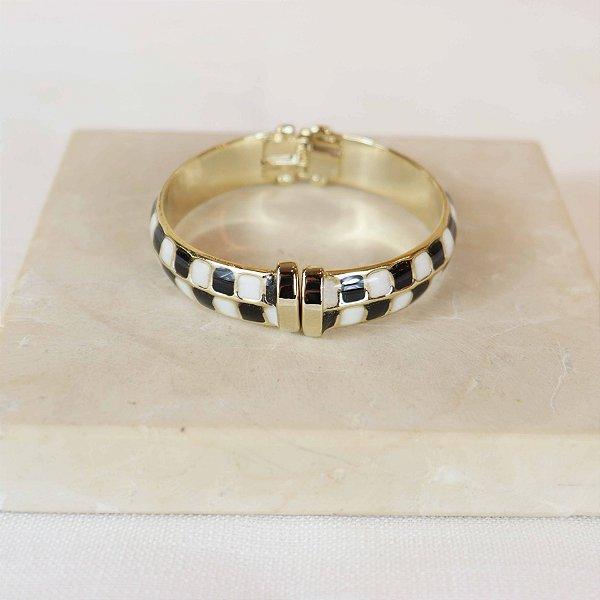 Bracelete Square - Preto e Branco