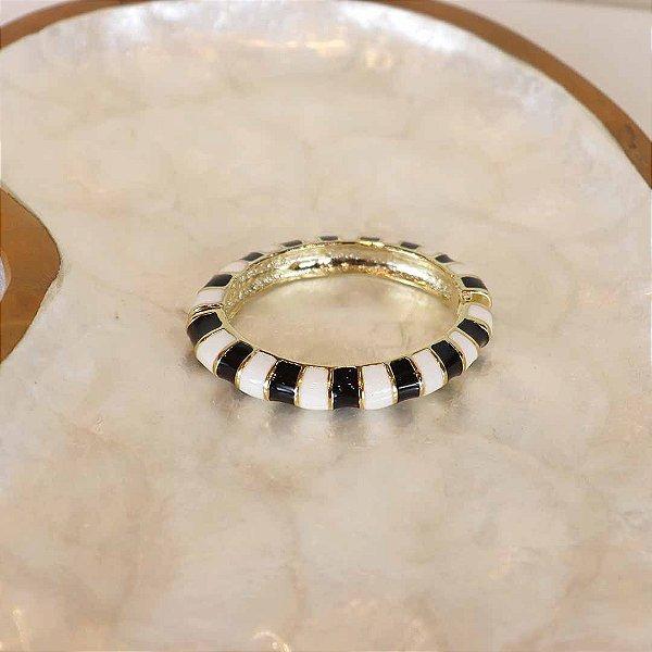 Pulseira Stripes - Preto e Branco