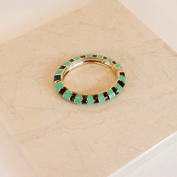 Pulseira Stripes - Verde Limo c/ Preto