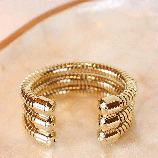 Bracelete Três Molas - Dourado
