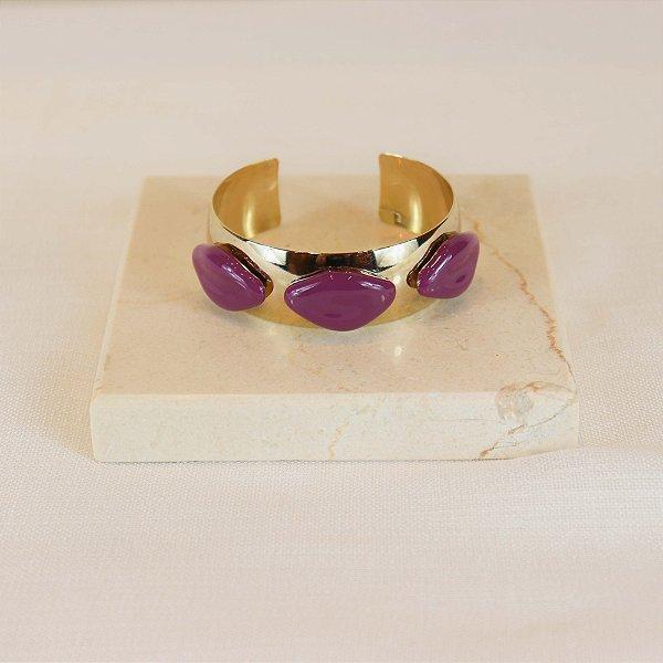 Bracelete Boca - Roxo