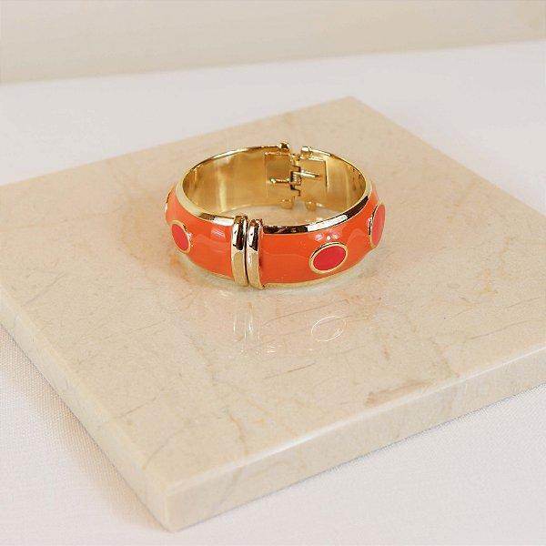 Bracelete Mônaco - Laranja Ampo