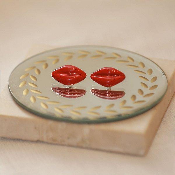 Brinco Lips Max Maria - Vermelho