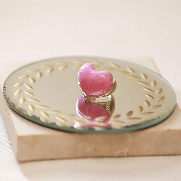 Anel Coração Color Nath - Rosa