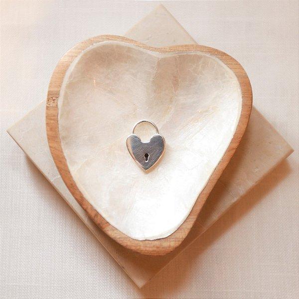 Pingente Cadeado Coração - Silver