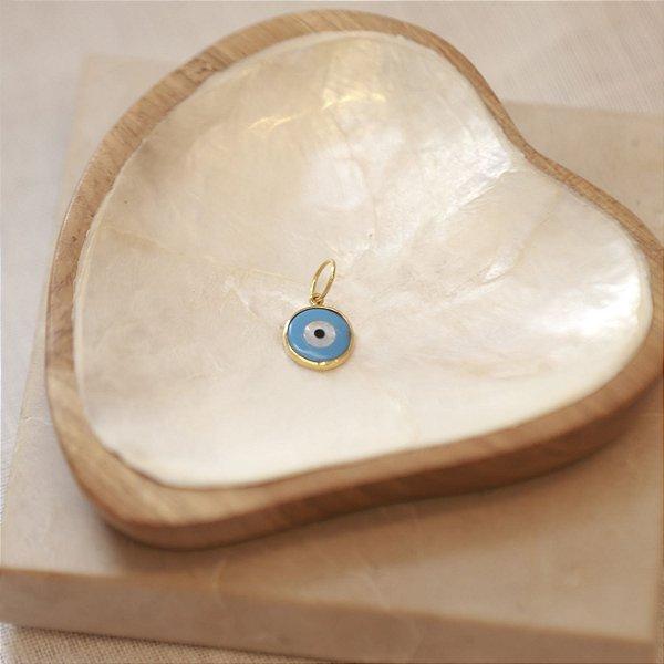 Pingente Olho Madre Pérola Pequeno - Azul