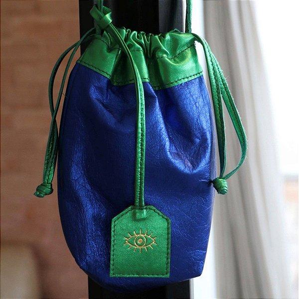 Bolsa Metalizada Bicolor - Azul e Verde