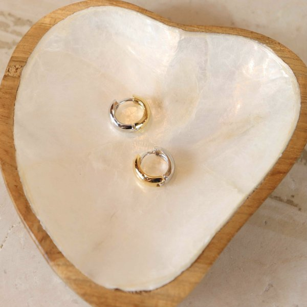Argola Mini - Dourado e Prata