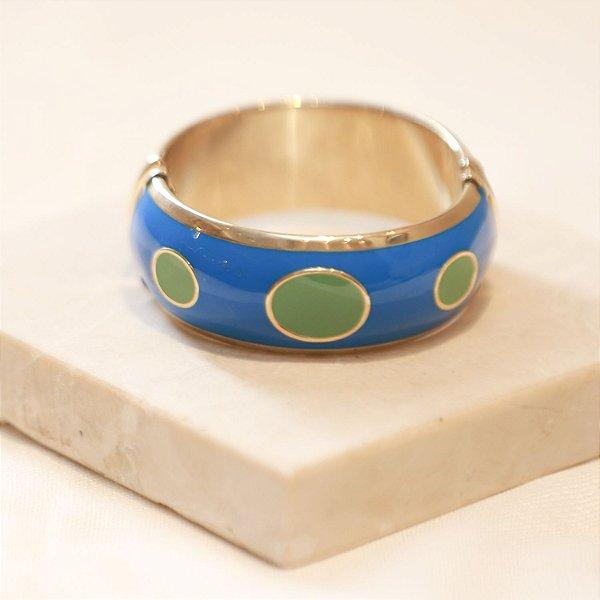Pulseira Mônaco - Azul e Menta