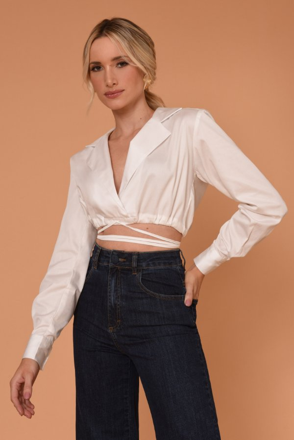 CAMISARIA CROPPED HELENA - OFF WHITE