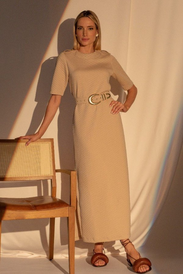 Vestido Lavínia - AREIA