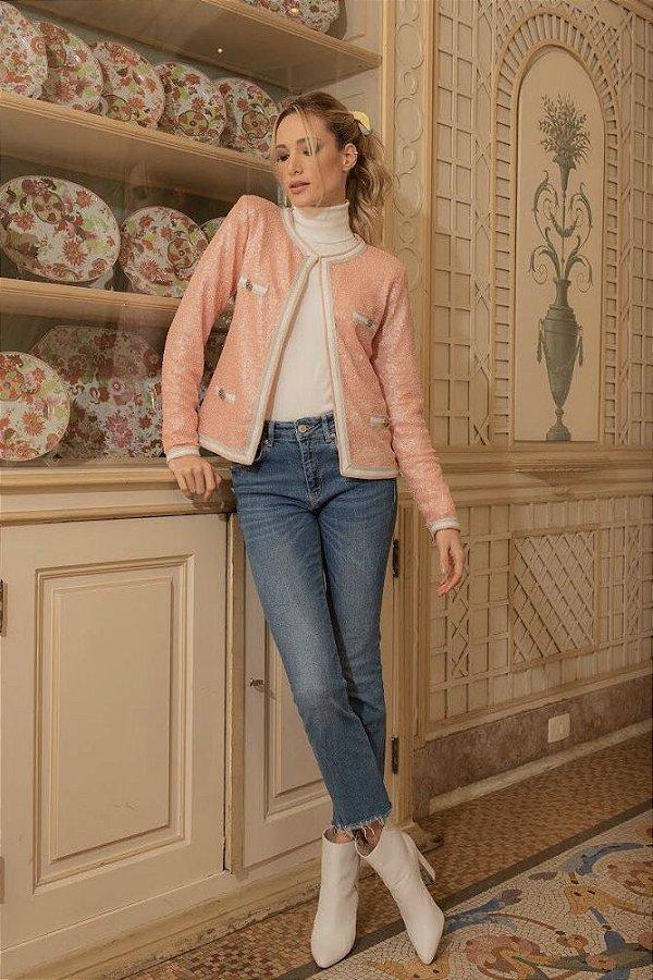 Calça Jeans Baby Flare - AZUL ESCURO