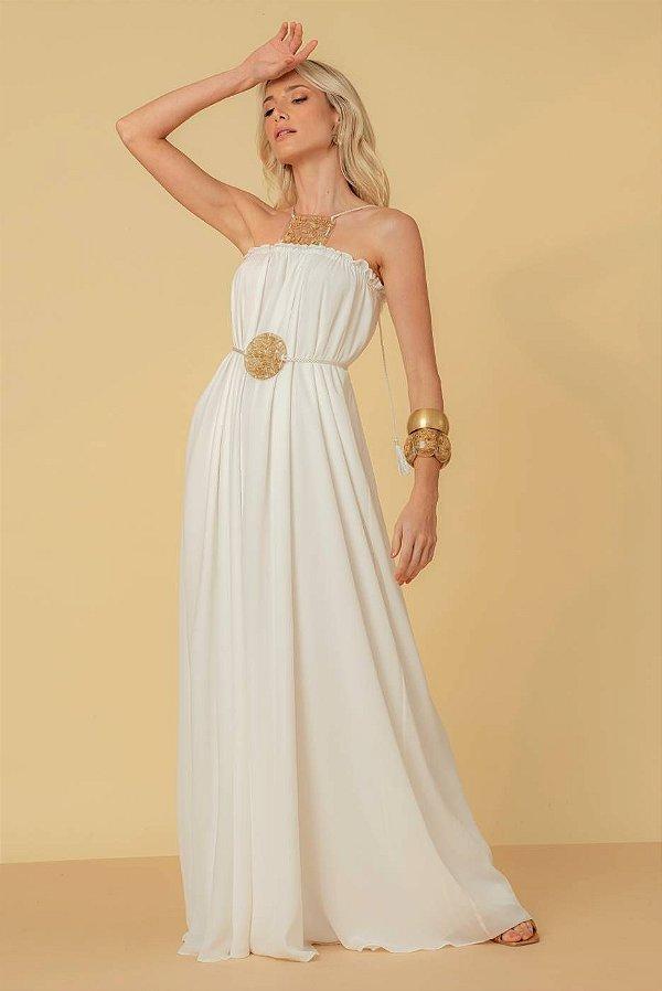 Vestido Afrodite Longo - OFF WHITE