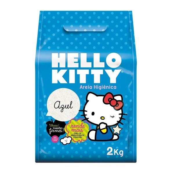 Areia Higiênica Hello Kitty Azul