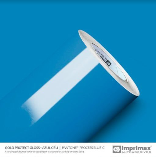 Adesivo Gold Protect Gloss Azul Céu (Rolo 10m x 1,40m)