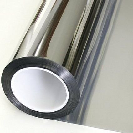 Adesivo Cromado Metálico Prata (Rolo 25m x 1,06m)
