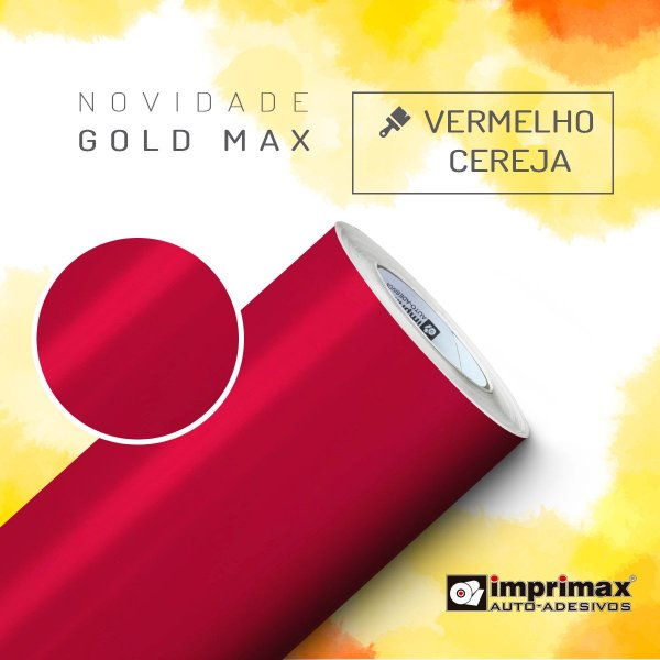 Adesivo Gold MAX Vermelho Cereja (Largura 1,22m) - VENDA POR METRO
