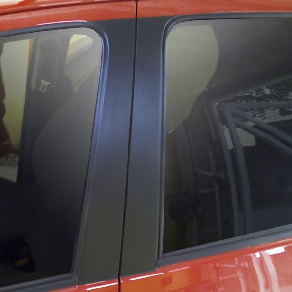 Adesivo Coluna de Carro PRETO BLACKOUT LISO
