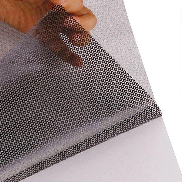 Adesivo Micro Perfurado Branco (Rolo 5m x 1,37m)
