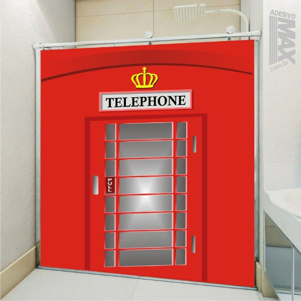 Adesivo Box - Cabine Telefone Londres