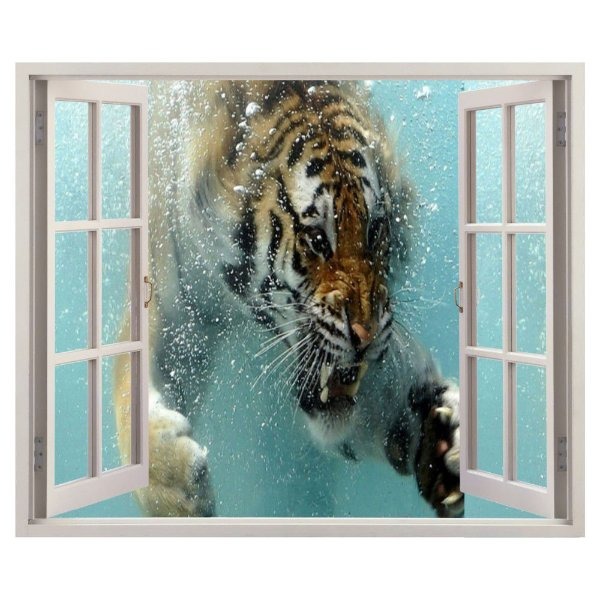 Adesivo Janela - Tigre