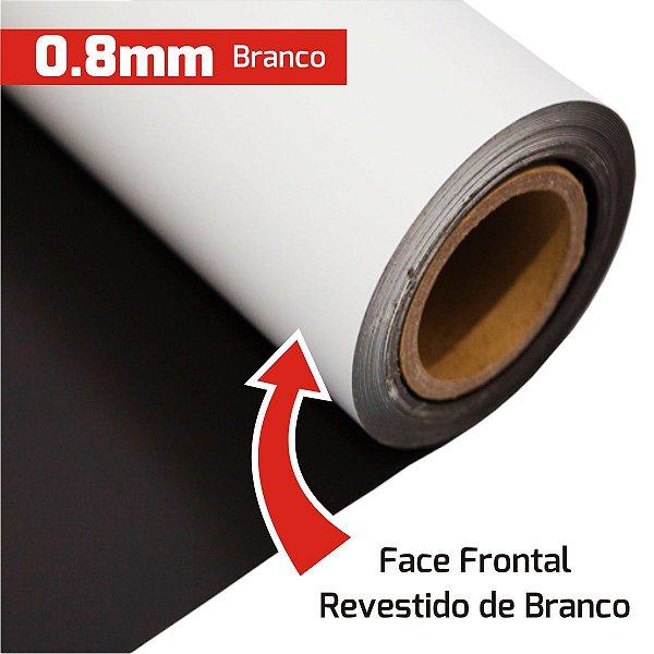 Manta Magnética 0,8 Branca Vinílica (Largura 62cm) - VENDA POR METRO