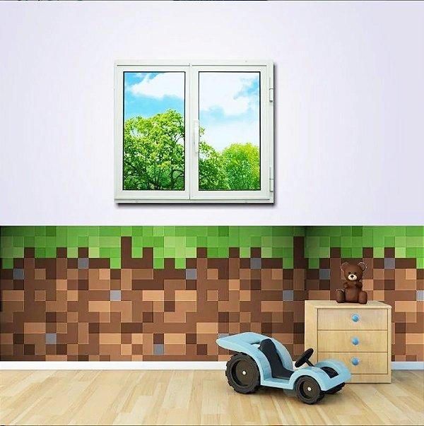 Faixa para Quarto Minecraft Tijolos (1m x 50cm)