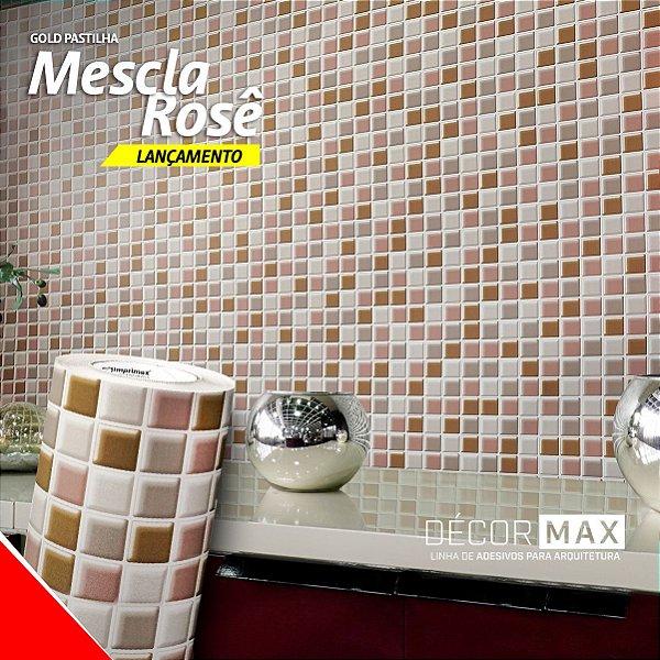 Adesivo Pastilha Mescla Rosê (Rolo 1,22m x 50cm)