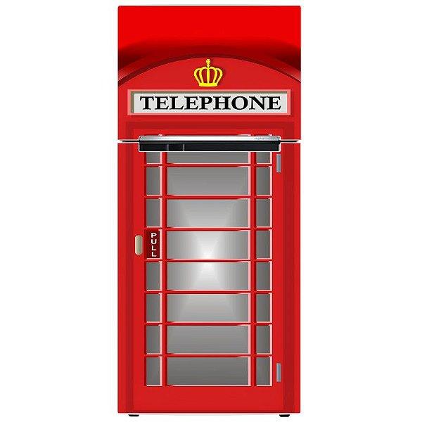 Adesivo de Geladeira Cabine Telefônica de Londres