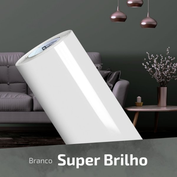 Adesivo DIGIMAX Branco Alto Brilho Laca (Rolo 5m x 1,40m)