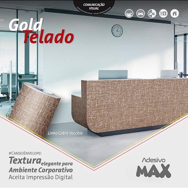 Adesivo Gold Telado Linho Cobre Vecchio (Largura 1,22m)