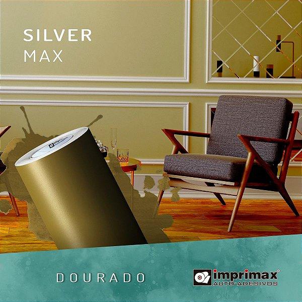 Adesivo Silver MAX Dourado Fosco (Largura 1,22m) - VENDA POR METRO