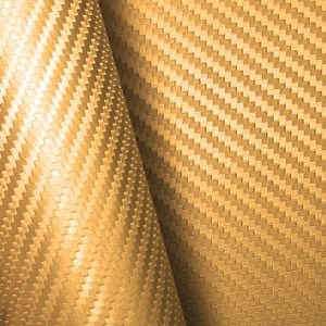 Adesivo Fibra de Carbono Ouro (Largura 1,22m) - VENDA POR METRO