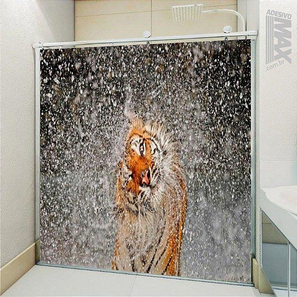 Adesivo Box - Tigre Hora do Banho