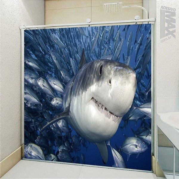 Adesivo Box - Tubarão Feliz