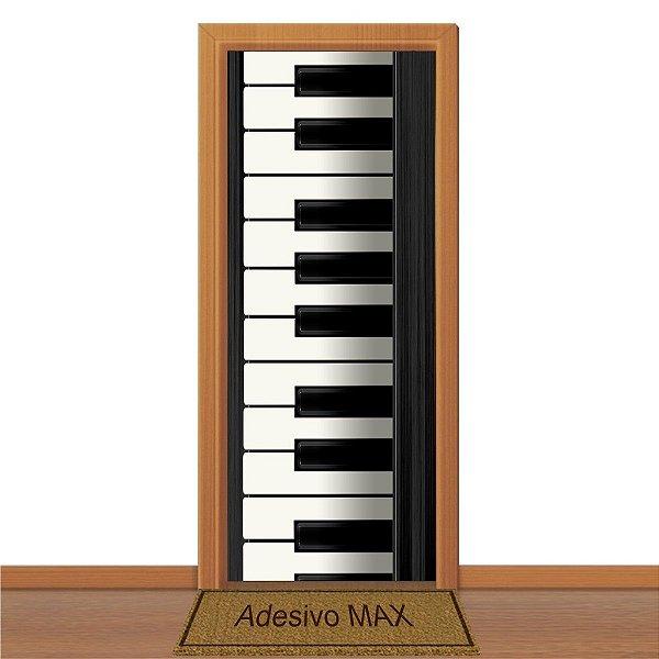 Adesivo de Porta - Teclado de Piano